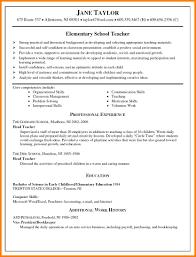 educational resume format 4 elementary teacher resume format cashier resumes 4 elementary teacher resume format