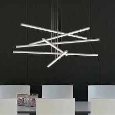 Led Pendant Lights Stix 6 Arm Led Pendant Light Sonneman Ylighting Led Pendant Lights