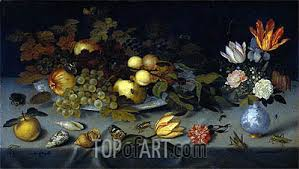 fruit and flowers still with fruit and flowers ambrosius bosschaert