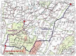 Wv Map Seneca Trail Wv Indian Warpath Clio