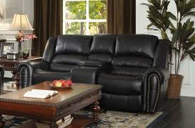 Loveseat With Recliner Homelegance Center Hill Double Glider Reclining Love Seat With