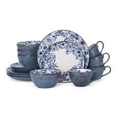 pfaltzgraff gabriela blue 16 dinnerware set free shipping