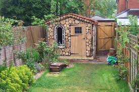 inspirations landscape ideas for small backyard with shed winsome