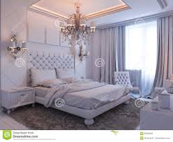 D Render Of Bedroom Interior Design In A Modern Classic Style - Interior design classic style