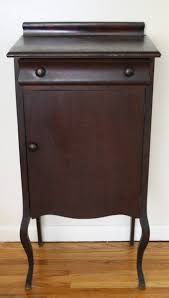Antique Mahogany Record Cabinet 1 Picked Vintage