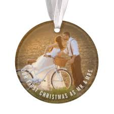 Personalized Wedding Ornament Photo Ornaments Zazzle