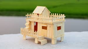 How To Make Doll Kitchen How To Make A Popsicle Stick House For Baby Doll Youtube