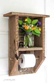 Toilet Paper Holder Ideas by 25 Best Bathroom Pallet Projects Ideas And Designs For 2017