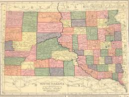 South Dakota Road Map The Usgenweb Archives Digital Map Library Hammonds 1910 Atlas