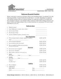 ideas awesome home renovation checklist pdf checklist for