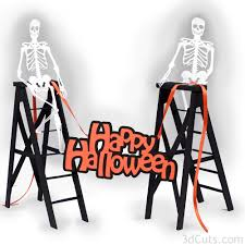 haunted ladders with skeletons tutorial u2014 3dcuts com