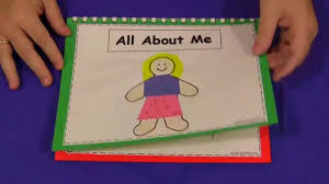 all about me book for preschool and kindergarten youtube