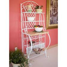 Metal Bakers Rack Furniture Simple Metal Bakers Rack With Understated Look Fits
