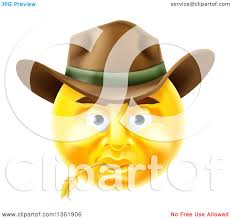 happy thanksgiving smiley face clipart of a 3d yellow male cowboy smiley emoji emoticon face