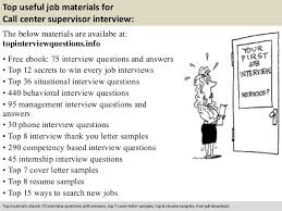 Call Center Supervisor Job Description Resume by Call Center Supervisor Interview Questions