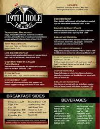 19th hole bar and grill bremerton menu