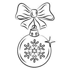 dibujos navideñas para colorear de bola navideña para niños