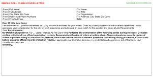 poll clerk cover letter