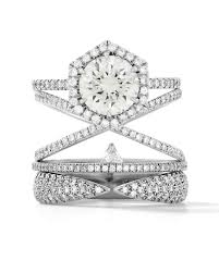 stacked engagement rings you u0027ll love martha stewart weddings