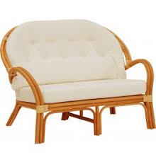 canapé rotin 2 places canapé 2 places jasper rotin miel avec coussin ivoire