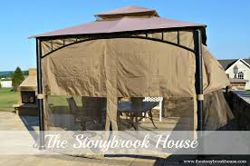 Outdoor Gazebo Curtains by Diy Gazebo With Shade My Gazebo Got Sunglasses The Stonybrook