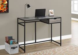 monarch specialties dark taupe black computer desk walmart canada