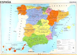 maps of spain spain map in for classroom use
