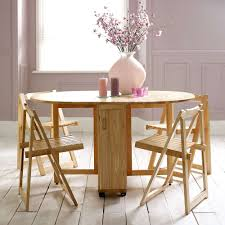 Folding Dining Table With Chairs Choose A Folding Dining Table For A Small Space Adorable Home