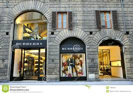 boutique fashion burberry clothing fashion boutique in italy editorial photography