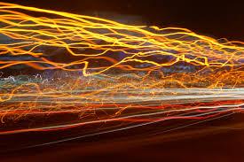 orange and yellow moving lights stock image image of dazzling