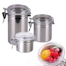 kitchen canisters stainless steel stainless steel kitchen canisters and jars ebay