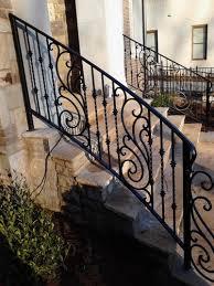 decorative exterior wrought iron handrail railing mediterranean