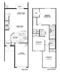 3 Bedroom Floor Plans With Garage Martins Crossing Bloxham Floor Plan Townhouse Design Pinterest