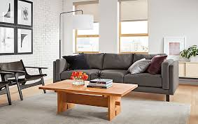 Room And Board Sofa Bed Holden Sofa In Kellen Charcoal Fabric Modern Living Room