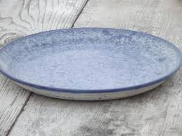serving plate stoneware and spongeware