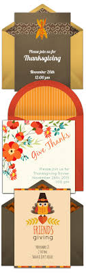 thanksgiving invitations free thank you card