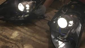 nissan 350z bi xenon headlights nissan 350z clear lens swap comparison youtube
