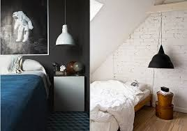 hanging bedroom lights it s hip to hang bedside lighting design lovers blog