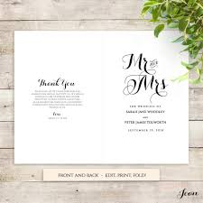 create your own wedding program printable wedding templates connie joan