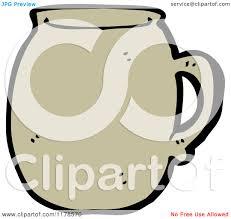 cartoon of a coffee mug royalty free vector illustration by