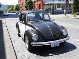 black volkswagen bug black and white vws in portland