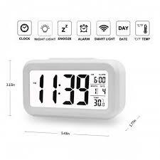 best light up alarm clock boyon alarm clock smart desk wake up travel clock light sensor