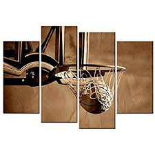 amazon natural art basketball sports themed canvas wall art