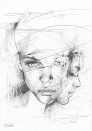 beautiful sketches and paintings by richard salcido portrait