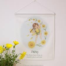 Daisy The Flower - fabric wall banner daisy the flower fairy fairy caravan