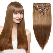 remy hair extensions 8 pcs weft clip in remy hair extensions 6 light brown