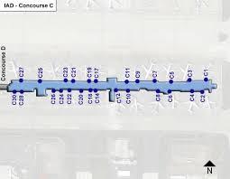 washington dc airports map washington dulles airport iad concourse c map