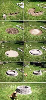 How To Build Your Own Firepit How To Build A Backyard Firepit Yard Pinterest Backyard