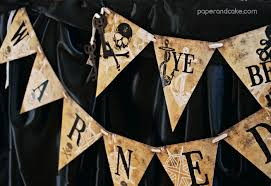 haunted pirate halloween printable party paper and cake paper