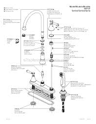 kitchen faucet diagram brilliant delta faucet 2497lf rb parts list and diagram com kitchen